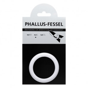 AMARELLE Phallusfessel, Rubber Cockring, L, white