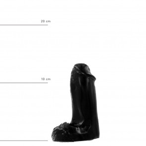 ALL BLACK Dildo Andy, Vinyl, Black, 13 cm (5,1 in), Ø 4,5 cm (1,8 in)