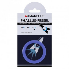 AMARELLE Phallusfessel, Rubber Cockring, XL, blue