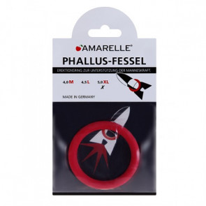 AMARELLE Phallusfessel, Rubber Cockring, XL, red,