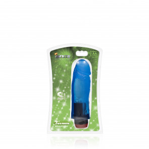 SI IGNITE Cock with Vibration, 18 cm (7 in), Blue