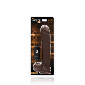 SI IGNITE Exxtreme Dong with Suction and Vibration, 30 cm (12 in), Brown