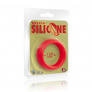 SI IGNITE Wide Silicone Donut 3,8 cm (1,5 in), Red